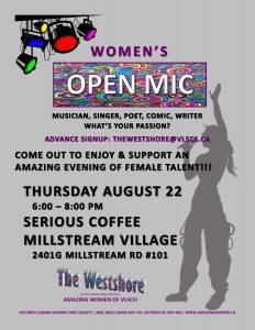 VLSCS Open Mic poster